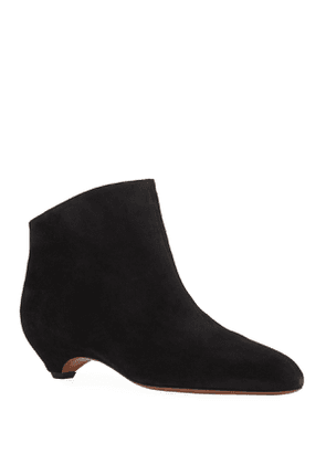 Chamois Wedge Ankle Booties