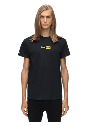 Real Love Cotton Jersey T-shirt