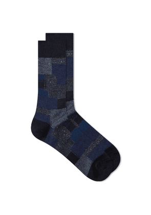 Anonymous Ism Patchwork Crew Sock