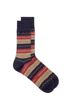 Anonymous Ism Fair Isle Stripe Crew Sock