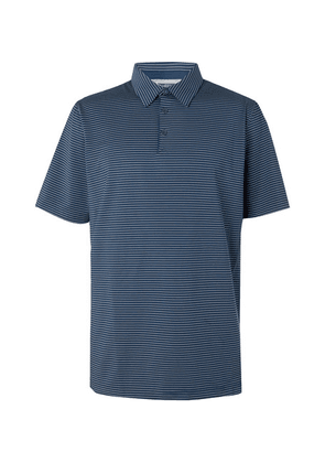 Adidas Golf - Adipure Striped Stretch Tech-jersey Polo Shirt - Navy