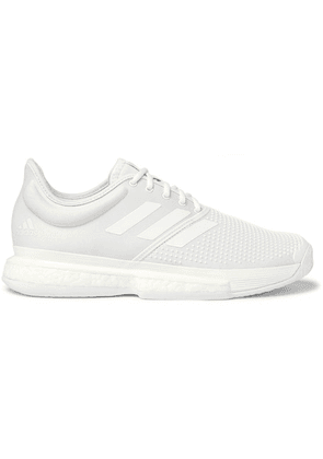 Adidas Sport - + Parley Sole Court Boost Neoprene Sneakers - White
