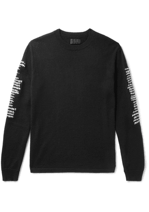 RtA - Logo-embroidered Cashmere Sweater - Black