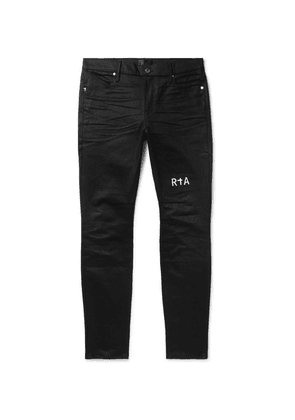 RtA - Logo-embroidered Denim Jeans - Black