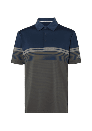 Adidas Golf - Ultimate365 Striped Stretch-jersey Golf Polo Shirt - Navy