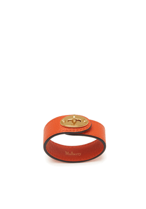 Mulberry Bayswater Leather Bracelet in Tangerine Orange Small Classic Grain