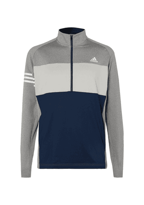 Adidas Golf - Competition Stretch-jersey Half-zip Golf Top - Gray