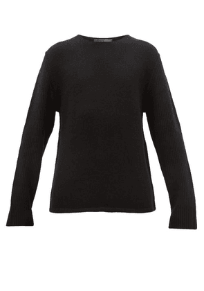 Denis Colomb - Ribbed Sleeve Cashmere Sweater - Mens - Black