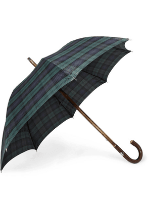 Francesco Maglia - Checked Wood-handle Umbrella - Green