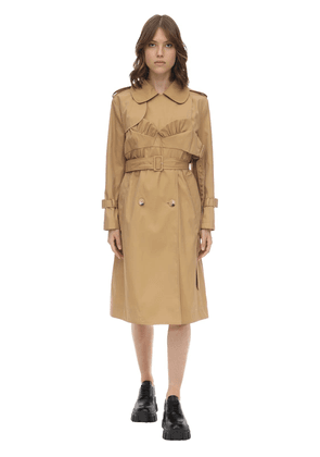 Bustier Cotton Blend Twill Trench Coat