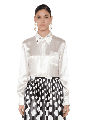 Satin Studs Embellished Shirt