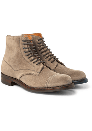 Cheaney - Jarrow Cap-toe Suede Boots - Neutral