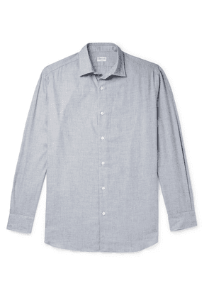 Charvet - Cotton And Wool-blend Flannel Shirt - Gray