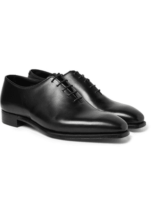 George Cleverley - Alan 3 Whole-cut Leather Oxford Shoes - Black