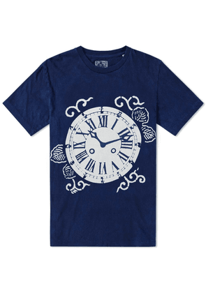 Blue Blue Japan Pocket Watch Bassen Print Tee