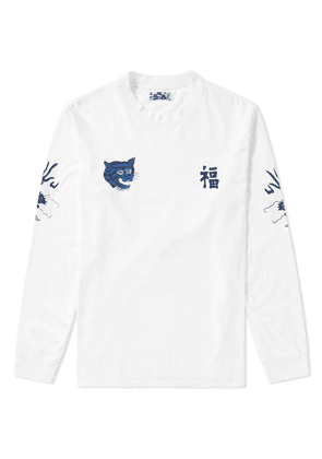 Blue Blue Japan Long Sleeve Fuku-Tora-Ryu Tee