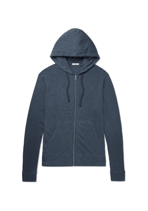 James Perse - Loopback Supima Cotton-jersey Zip-up Hoodie - Storm blue