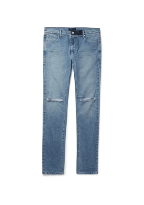 RtA - Skinny-fit Distressed Denim Jeans - Blue
