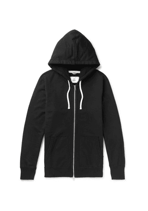 Reigning Champ - Loopback Cotton-jersey Zip-up Hoodie - Black