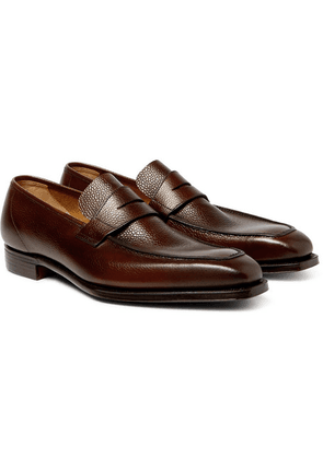 George Cleverley - George Full-grain Leather Penny Loafers - Dark brown