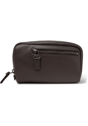 Álvaro - 17 Leather Wash Bag - Brown