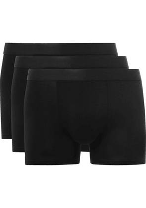 CDLP - Three-pack Stretch-jersey Boxer Briefs - Black