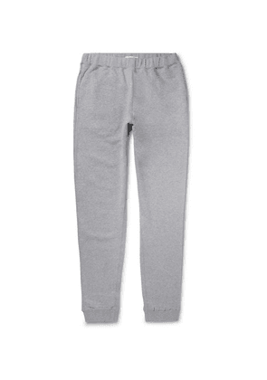 Sunspel - Tapered Brushed Loopback Cotton-jersey Sweatpants - Gray