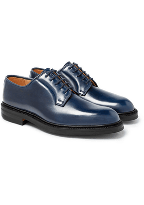 George Cleverley - Archie Horween Shell Cordovan Leather Derby Shoes - Midnight blue