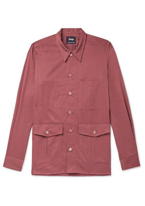 Drake's - Cotton And Cashmere-blend-twill Overshirt - Pink