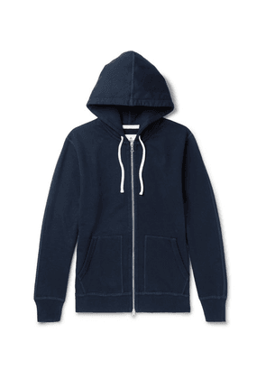 Reigning Champ - Loopback Cotton-jersey Zip-up Hoodie - Midnight blue