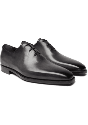 Berluti - Leather Oxford Shoes - Black