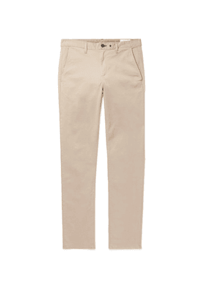 rag & bone - Fit 2 Slim-fit Garment-dyed Cotton-blend Twill Chinos - Beige