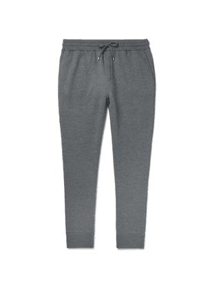 Dunhill - Tapered Loopback Wool And Cashmere-blend Sweatpants - Anthracite