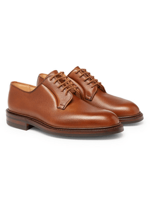 George Cleverley - Archie Full-grain Leather Derby Shoes - Tan