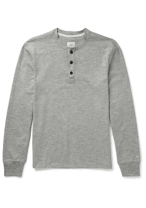 rag & bone - Slim-fit Mélange Cotton-blend Jersey Henley T-shirt - Gray
