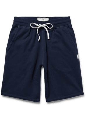 Reigning Champ - Loopback Cotton-jersey Drawstring Shorts - Midnight blue