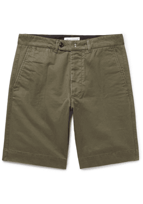 Officine Generale - Fisherman Cotton-twill Shorts - Army green