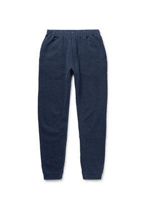 Sunspel - Tapered Brushed Loopback Cotton-jersey Sweatpants - Navy