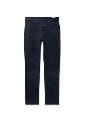 rag & bone - Fit 2 Slim-fit Garment-dyed Cotton-twill Chinos - Midnight blue