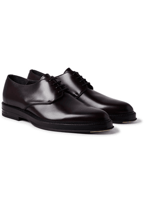 Dunhill - Facet Polished-leather Derby Shoes - Merlot