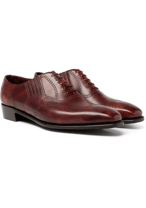 George Cleverley - Anthony Churchill Leather Oxford Brogues - Brown