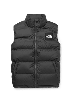 The North Face - 1992 Nuptse Slim-fit Two-tone Quilted Shell Down Gilet - Charcoal