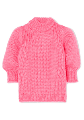 GANNI - Mohair And Wool-blend Sweater - Pink