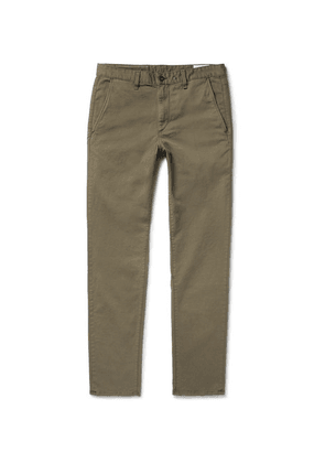 rag & bone - Fit 2 Slim-fit Garment-dyed Stretch-cotton Twill Chinos - Army green
