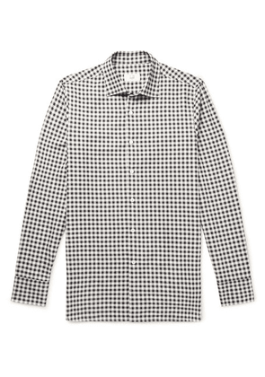 Dunhill - Slim-fit Gingham Cotton-flannel Shirt - Gray