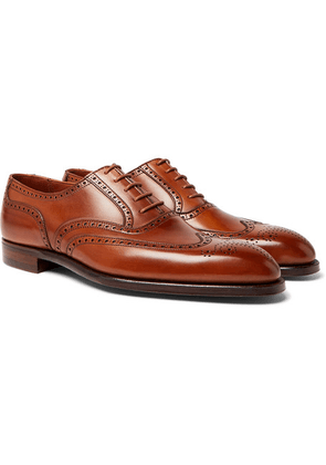 George Cleverley - Reuben Leather Brogues - Tan