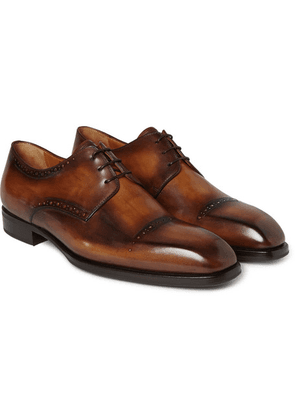 Berluti - Leather Derby Shoes - Brown