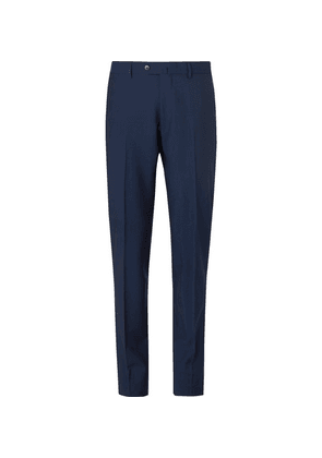Caruso - Navy Aida Slim-fit Wool And Mohair-blend Suit Trousers - Navy