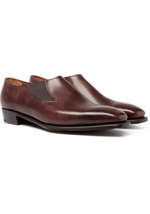 George Cleverley - Bulow Burnished-leather Loafers - Brown