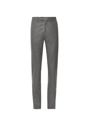 SALLE PRIVÉE - Anthracite Rocco Slim-fit Mélange Wool-flannel Suit Trousers - Anthracite